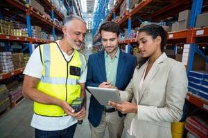 warehouse management on tablet